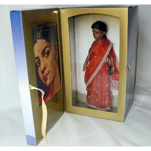 American Girl 9 inch Neela Doll with Book - Girls of Many Lands India - Retired