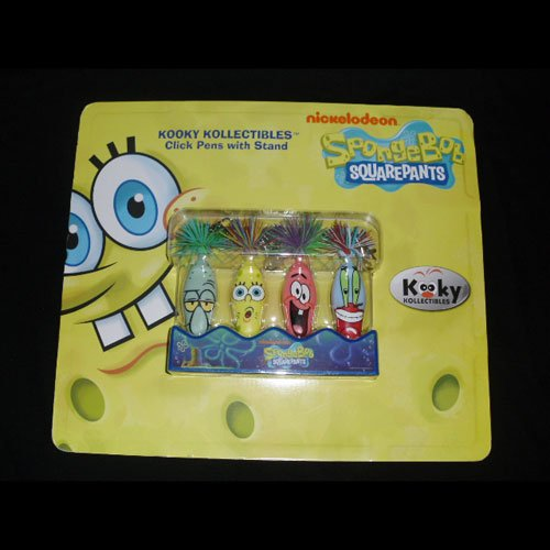 Spongebob 4 Kooky Click Pens Kechains with Stand Series 2
