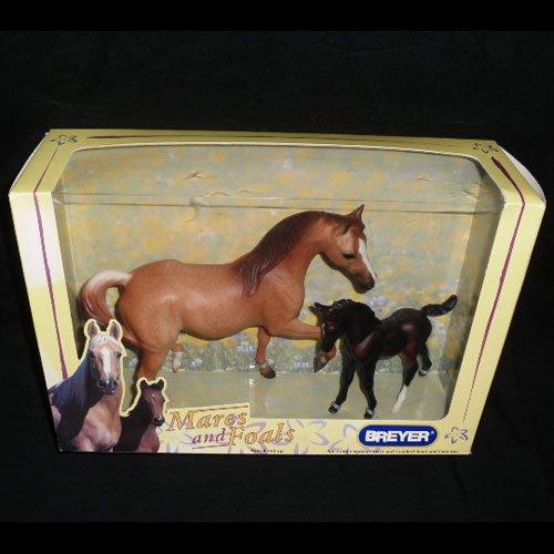 Breyer 62003 Arabian Mare and Foal Red Roan and Dark Bay