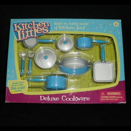 Kitchen Littles Deluxe Cookware Play Set Die-Cast Metal