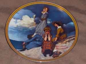 "Ltd Ed. Norman Rockwell ""Rediscovered Women"" China Plates-Laylas Price:$44"