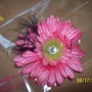 pink gerber daisy hairclip