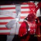 red and white striped mini album