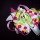 peace hair bow