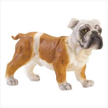 Porcelain Bulldog Figurine
