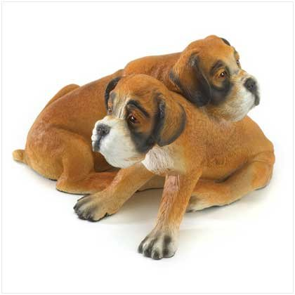 Boxer Puppies Figurine