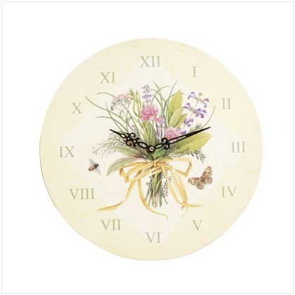 Herbal Bouquet Wall Clock