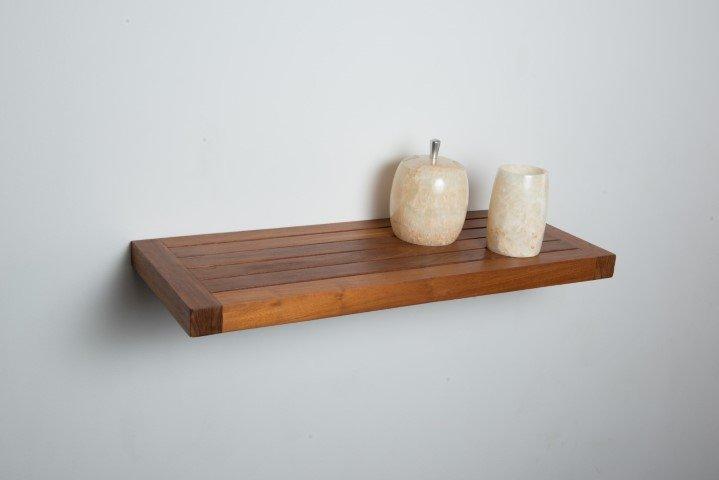 teak wall shelf 24 inch 331. Black Bedroom Furniture Sets. Home Design Ideas