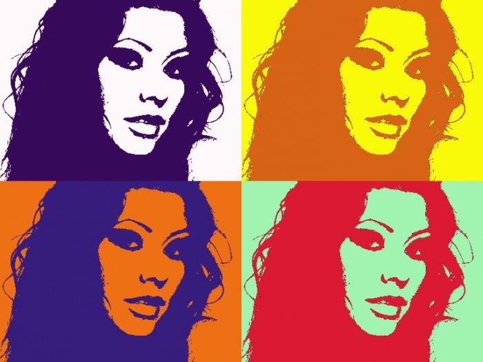 8x10 Christina Aguilera Popart Print Celebrity Picture