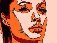 8x10 Angelina Jolie Popart Print Celebrity Pop Art Picture
