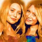 8x10 Mary Kate & Ashley Oldson Twins Popart Print Celebrity Pop Art Picture