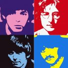 8x10 The Beatles Popart Print Celebrity Pop Art Picture Limited Edition