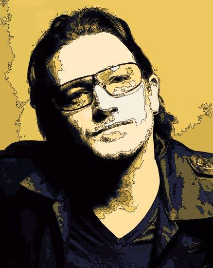 8x10 Bono U2 Popart Print Celebrity Pop Art Picture Limited Edition
