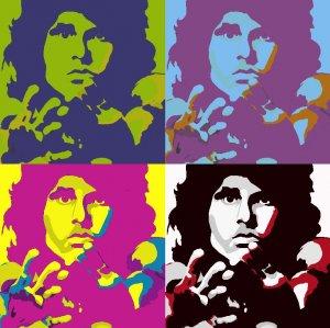 8x10 Jim Morrison Popart Print Celebrity Pop Art Picture Limited Edition