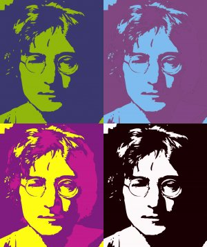 8x10 The Beatles John Lenon Popart Print Celebrity Pop Art Picture Limited Edition