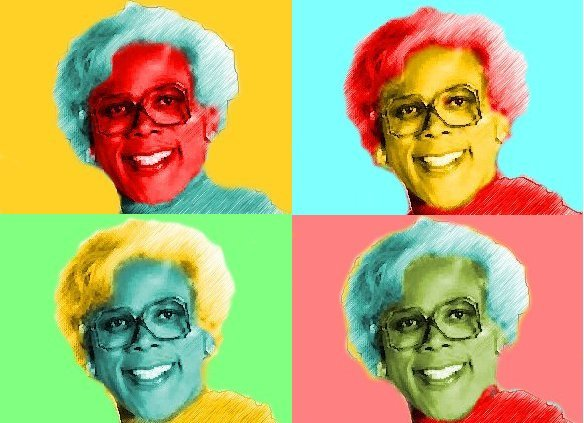 8x10 Madea Tyler Perry Popart Print Celebrity Pop Art Picture Limited Edition