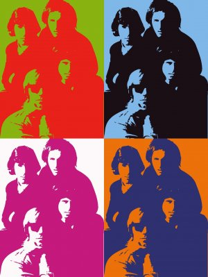 8x10 The Doors Popart Print Celebrity Pop Art Picture Limited Edition