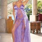 Open Cup Charmeuse & Lace Gown