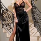 Satin & Chiffon Embroidered Heart Gown
