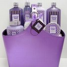 Lavender Vanilla Bain D'esprit Bath Collection in Faux Leather Tote