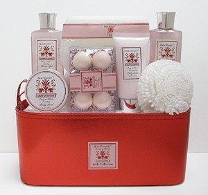 Peony in Bloom Bain D'esprit Affluiana Bath Collection in Faux Leather Tote