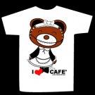 T-shirt I LOVE CAFE design