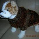 Beautiful Warm Handmade Dog Sweater Brown - Medium