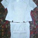 Women's Size 14 Linen Tan Pants Suit