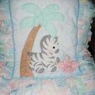 Jungle Zoo Pastel Theme Lambs Ivy 5 pc Crib Set +Bonus