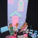Rare HTF Barbie City Pretty Townhouse Talking House