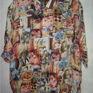 Men's Dress Shirt Dabiani UOMO Milan Italy Italian L