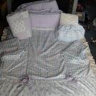 Waverly Girl's Crib Bedding Set Purple Lavender Sage 5p