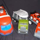 LITTLE TIKES RUGGED RIGGZ  Lot 3 Trucks 2 Race Cars Tow