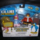 Club Penguin Figure Snowboarder Pajama Bunny Slippers