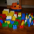 Mega Bloks Blocks Building 75+ Boat Ship Captain C@@L!