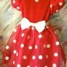 Disney Store Minnie Mouse Costume Halloween Dress 4/5