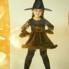 NEW Adorable Witch Costume Dress Hat Belt 2-4 Gold