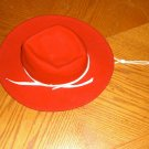 Vintage Childs Western ROCKMOUNT Red Wool COWBOY Hat