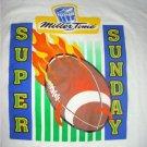 LITE MILLER TIME BEER SUPER SUNDAY FOOTBALL Shirt XL