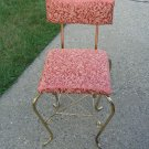Antique Elegant Vanity Chair Stool Metal Gold Bench