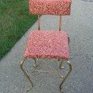 Antique Elegant Vanity Chair Stool Metal Gold Bench