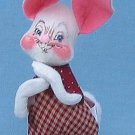"""Annalee Doll Country Boy Bunny Easter 7"""" 2001"""