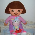 "26"" Dora Pillow & 11"" Talking Boots Plush Doll Nick Jr"