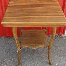 Antique Oak Wood Side End Table Furniture