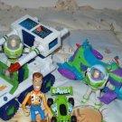 Disney Toy Story Buzz Woody Figures Truck Vehicle Lot