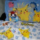 Pokemon 5p Lot Twin Sheets Plush & NEW Gum Ball Machine