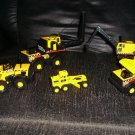 5 Tonka Mighty Mini Construction Trucks HASBRO 1998 Lot