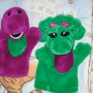 Barney & Baby Bop Hand Puppets Plush PBS Sprout