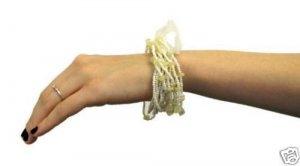 NEW! Set of 12 Strands Plastic Beaded Stretch Bracelets