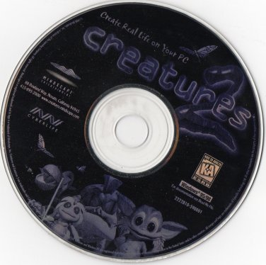 MINDSCAPE : Creatures - Create Real Life on Your PC Windows 95/98 CD-ROM